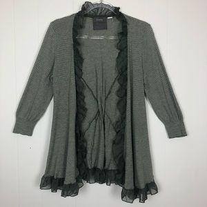 Anthropologie | Guinevere Ruffle Striped Cardigan